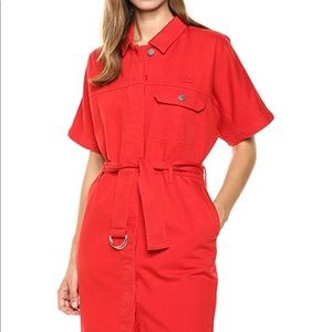 Lacoste belted cotton dress
